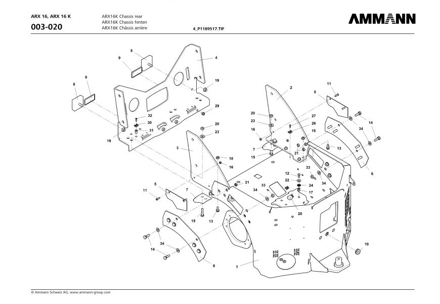 ARX16K Chassis rear 4-S1189517